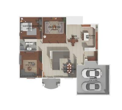 2D floor plan 1st floor Solara