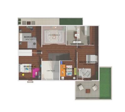 2D floor plan 2nd floor Solara